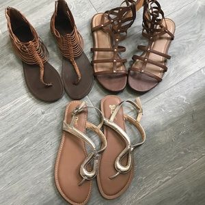Shoes - Size9 lot of summer sandals (3 pairs) all for $11